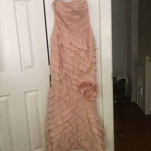 Teri Jon by rickie freeman blush wedding dress 6